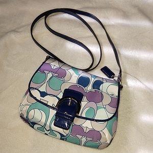 Coach optic scarf print crossbody bag